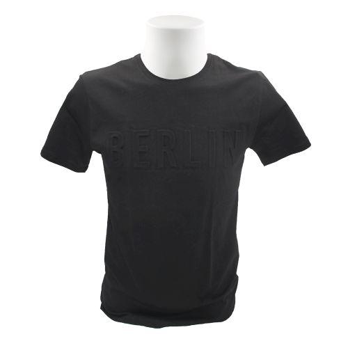 Herren Shirt Berlin Embossed schwarz