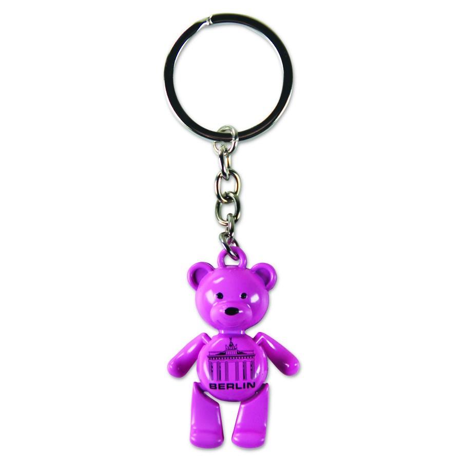Schlüsselanhänger Bär beweglich BT pink