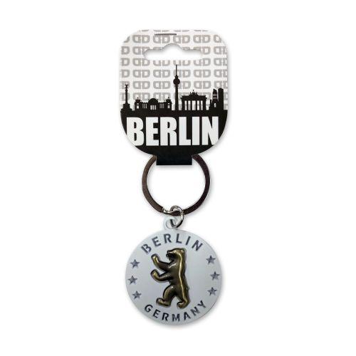 Schlüsselanhänger Berliner Bär gold