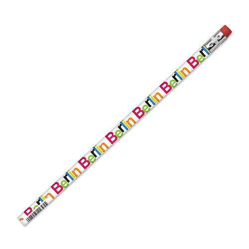Bleistift Color Schrift weiß