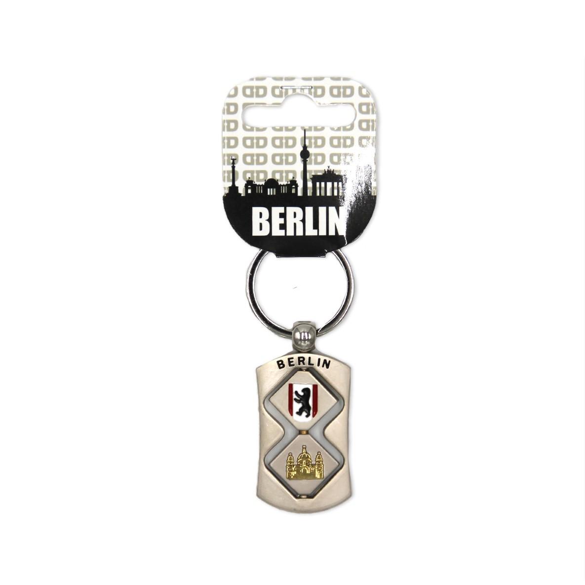 Schlüsselanhänger Dom u. BT + Fahne drehbar silber