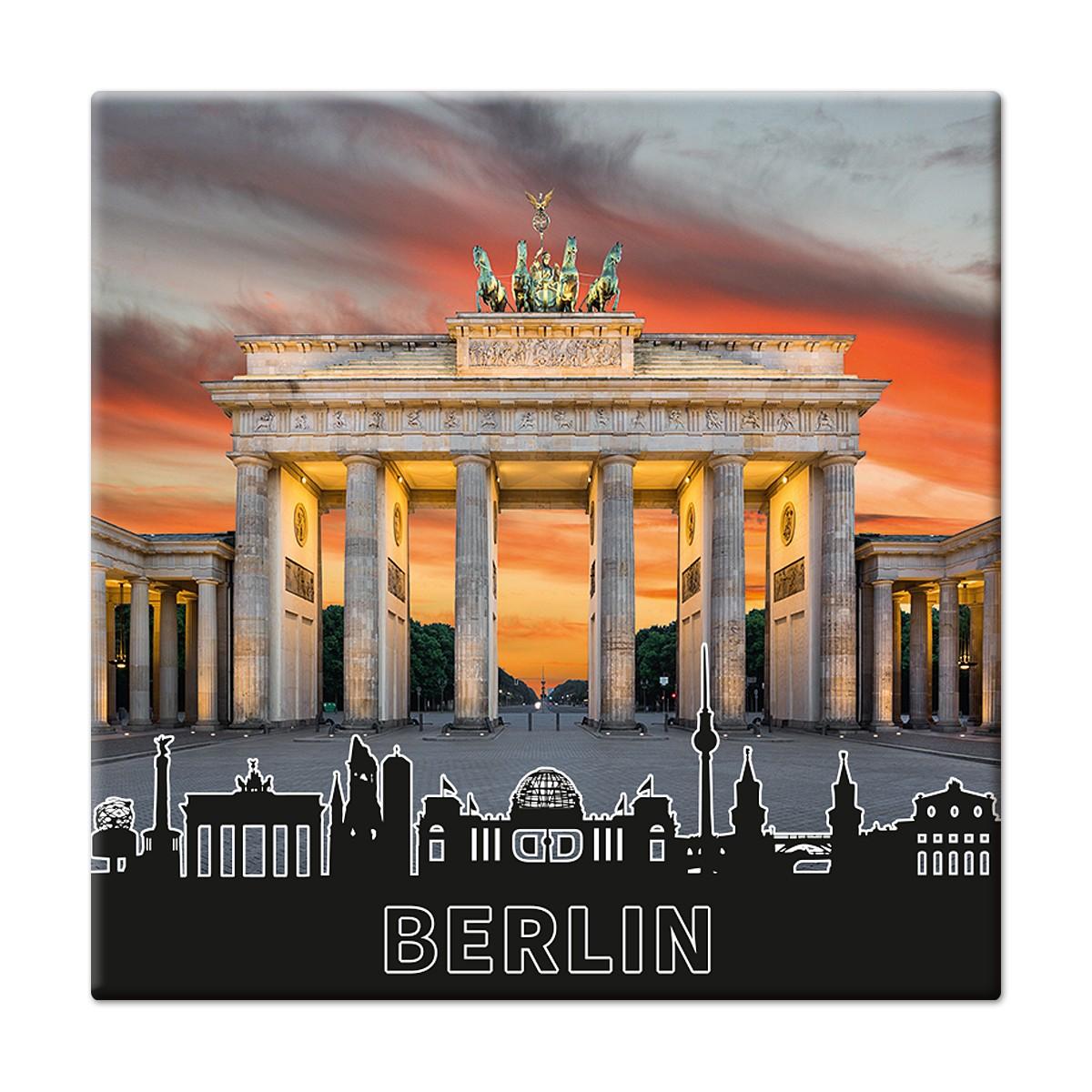 Fotomagnet Brandenburger Tor am Abend