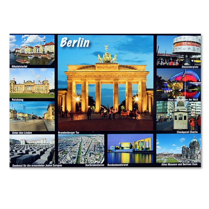 Postkarte Standard QF 11 Bilder BT Berlin