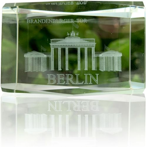 Glasquader Klar Brandenburger Tor 4*6cm