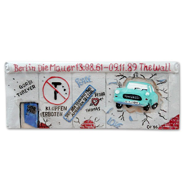 Magnet Poly Mauer The Wall+Trabi