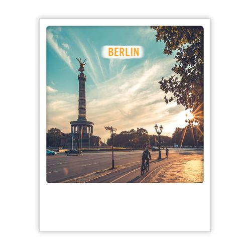 Polaroid Karte berlin biker sunrise Berlin