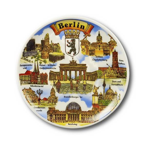 Untersetzer Porzellan Pano 8er Bild Berlin bunt