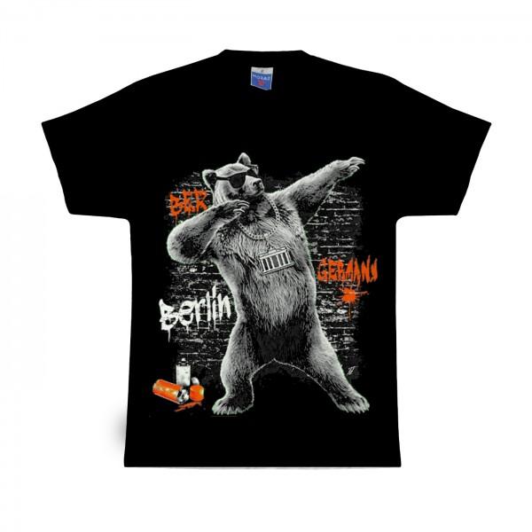 H Shirt Urban Bär schwarz Größe XS