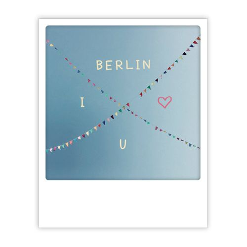 Polaroid Karte berlin skies i love you Berlin