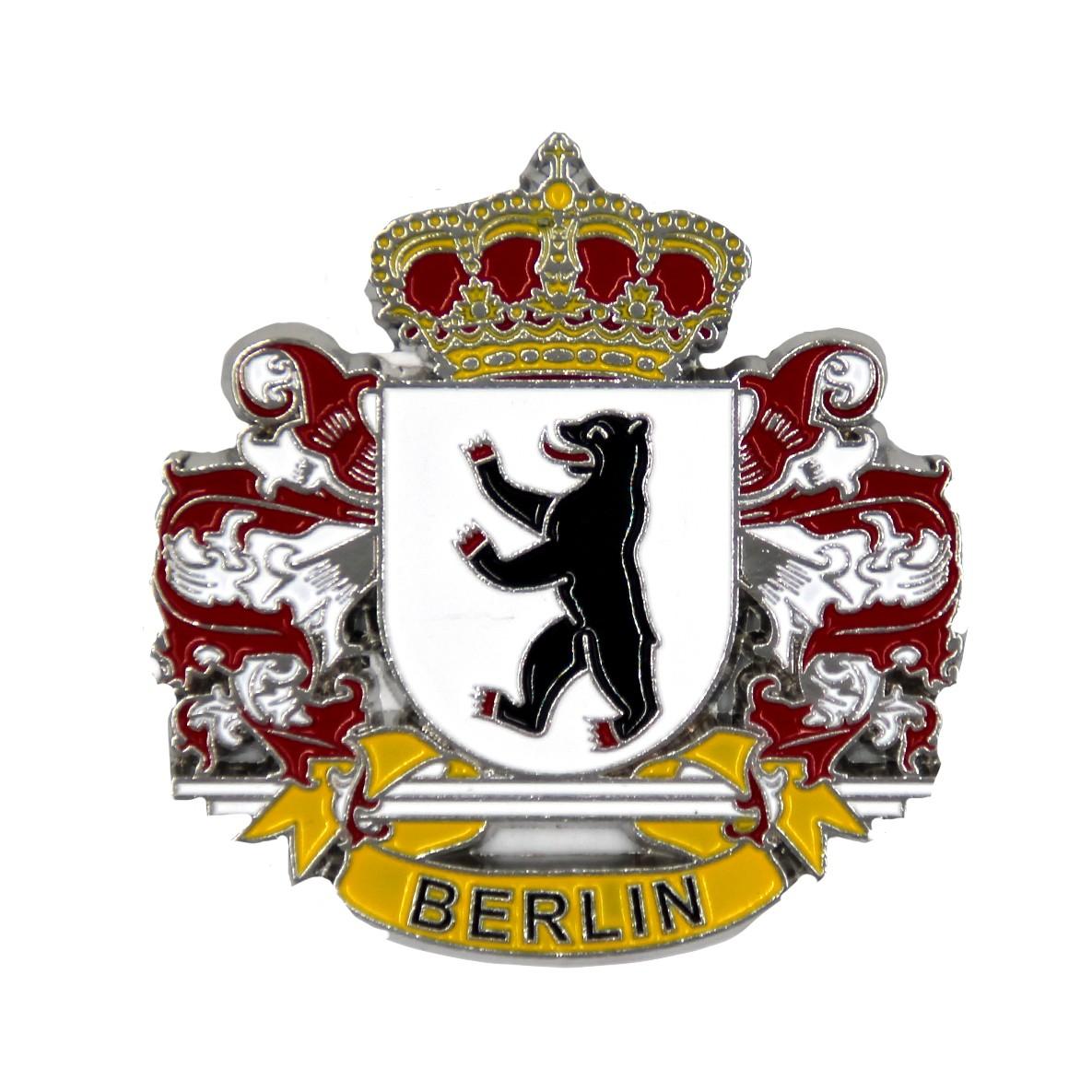Magnet Metall Wappen mit Krone