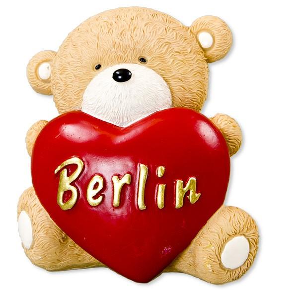 Miniatur kleiner Bär sitzend mit Herz Berlin