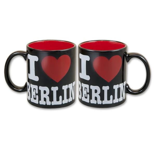 Tasse I (Herz) Berlin schwarz