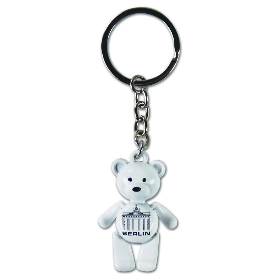 Schlüsselanhänger Bär beweglich BT weiß