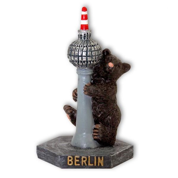 Miniatur Fernsehturm mit Bär