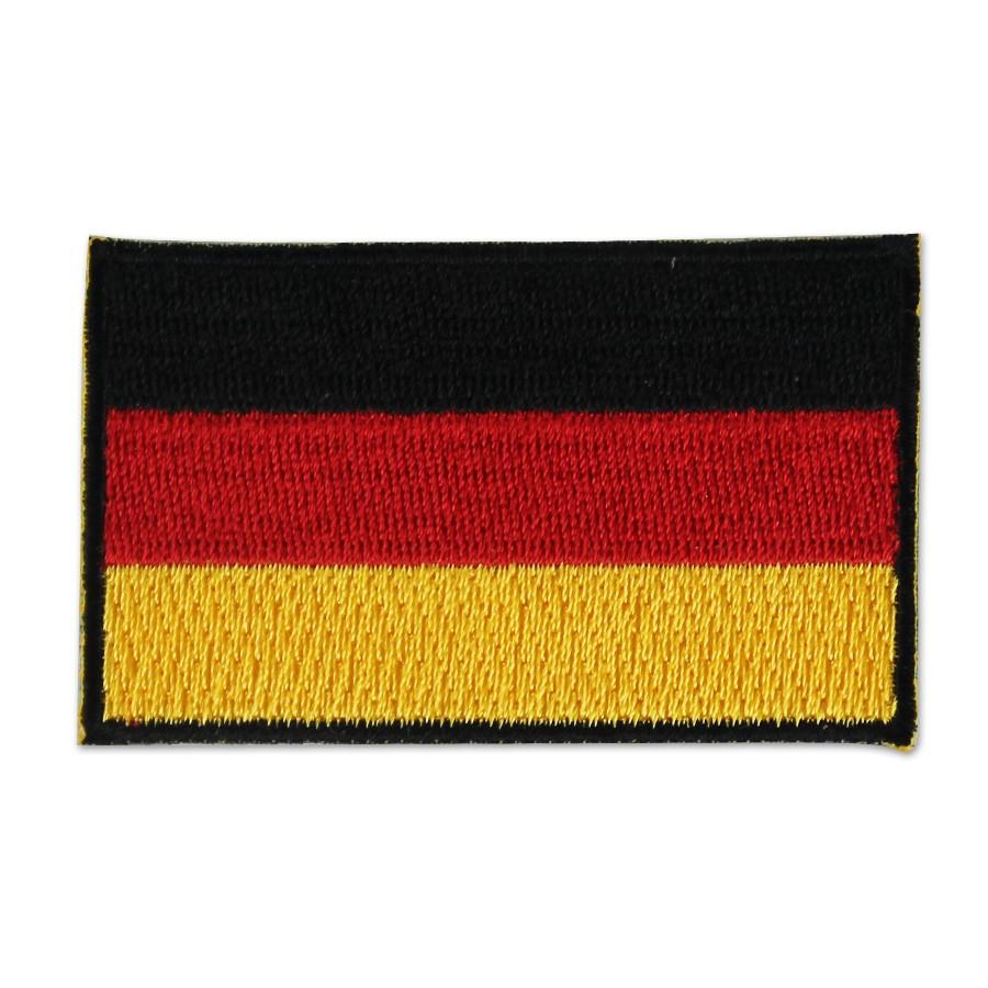 Aufnäher Deutschlandfahne gestickt