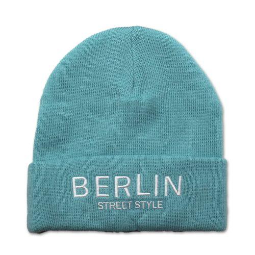 Mütze Berlin Street Style blau