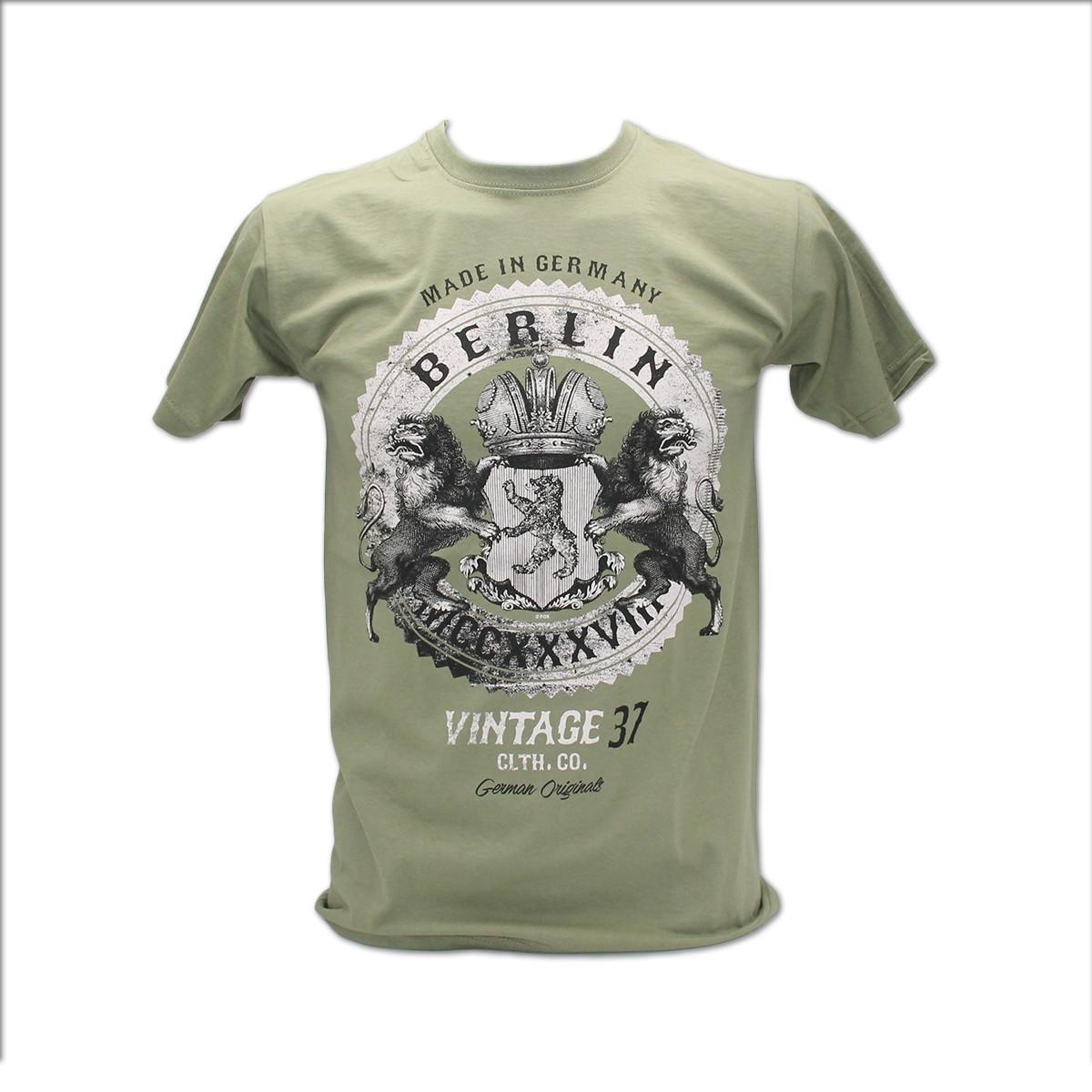 H Shirt Berlin Vintage Rock olive Größe S