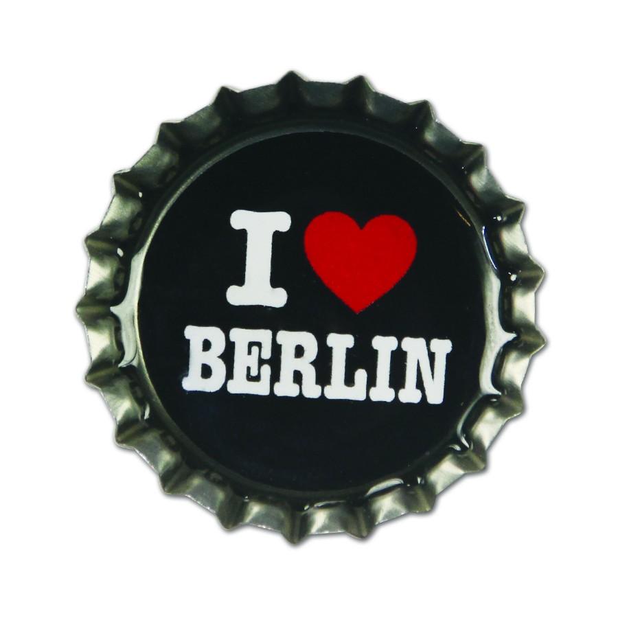 Magnet Kronkorken I Herz Berlin schwarz