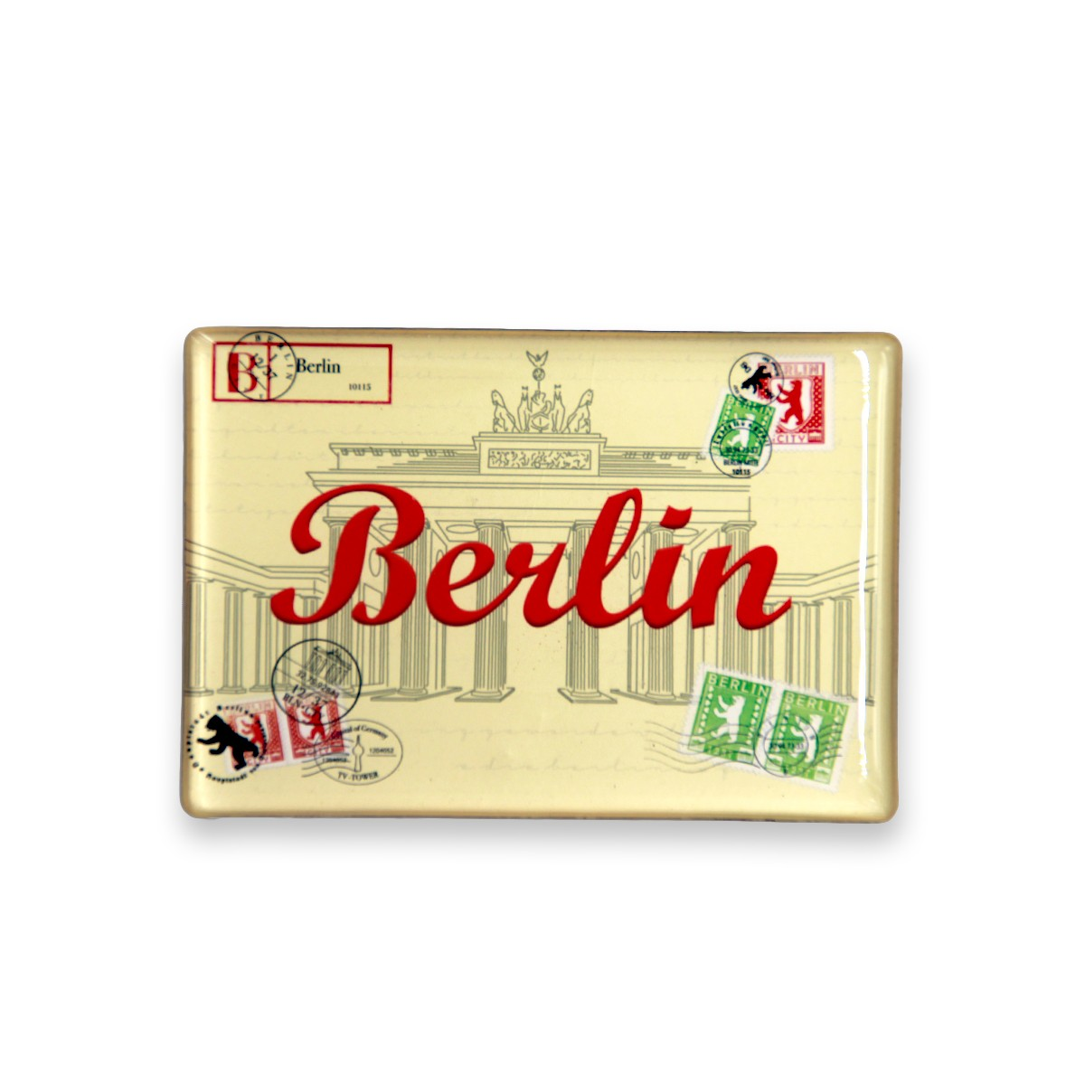 Fotomagnet Briefmarke gelb