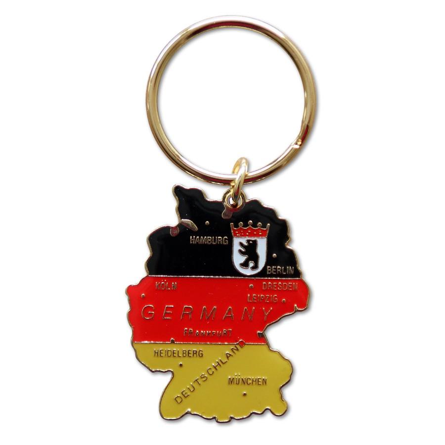 Schlüsselanhänger Landkarte D & B-Wappen