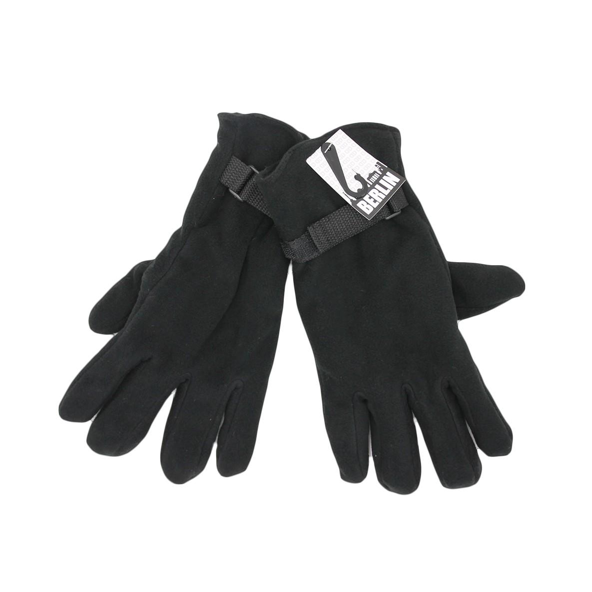 Handschuhe Herren Fleece schwarz