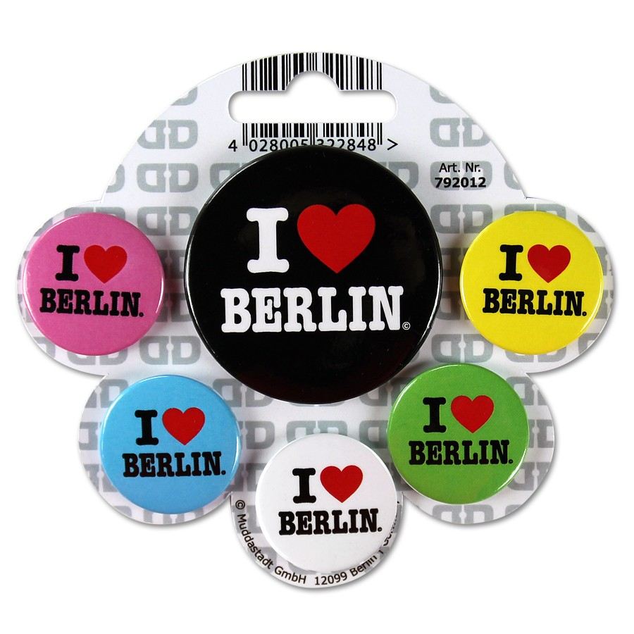 Button Set I (Herz) Berlin