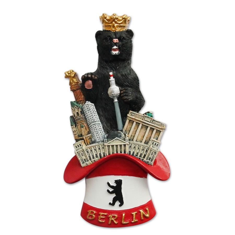 Magnet Poly Berliner Bär mit Hut