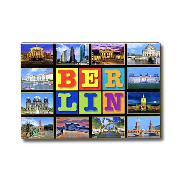 Fotomagnet QF Buchstabenblöcke + 12 Bilder Berlin