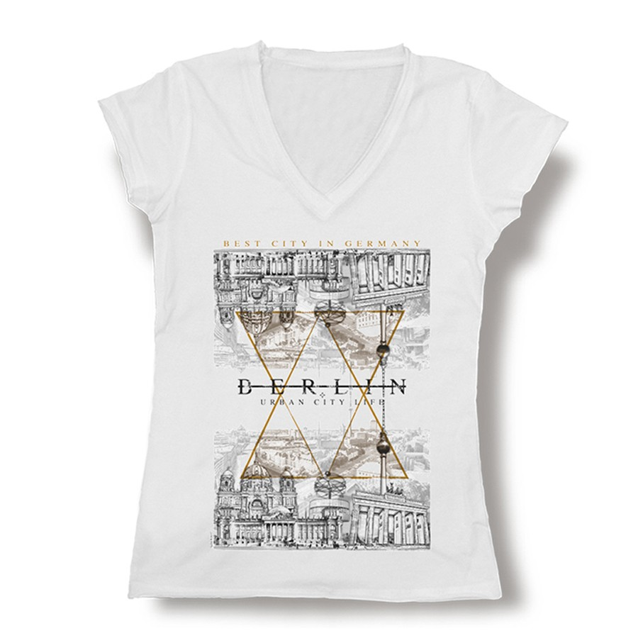 D Shirt Berlin mirror silver