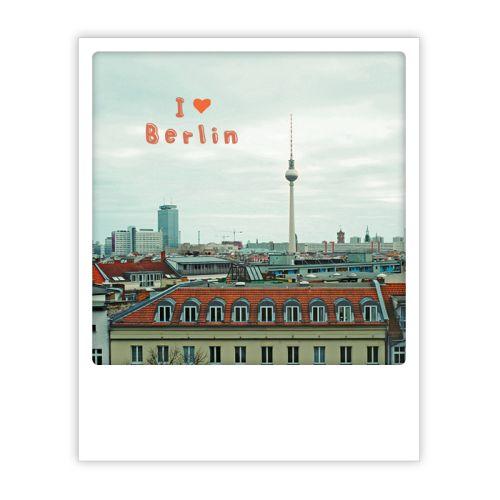 Polaroid Karte i herz berlin alex skyline Berlin