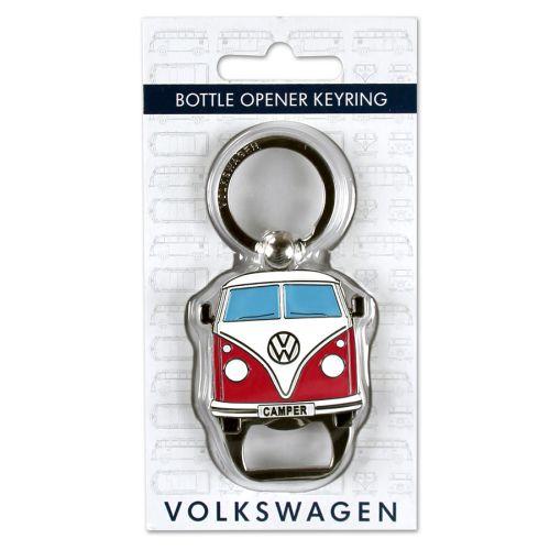 VW T1 Bus Schlüsselanhänger Flaschenöffner rot
