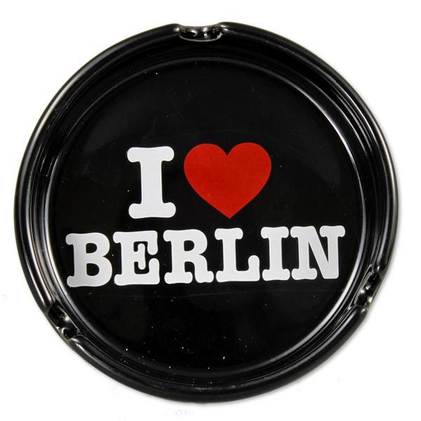 Aschenbecher Porzellan I (Herz) Berlin schwarz