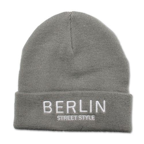 Mütze Berlin Street Style hellgrau