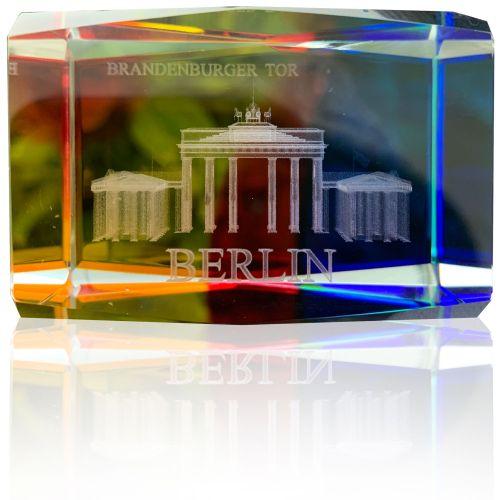 Glasquader Bunt Brandenburger Tor 4*6cm