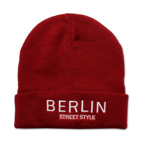 Mütze Berlin Street Style rot