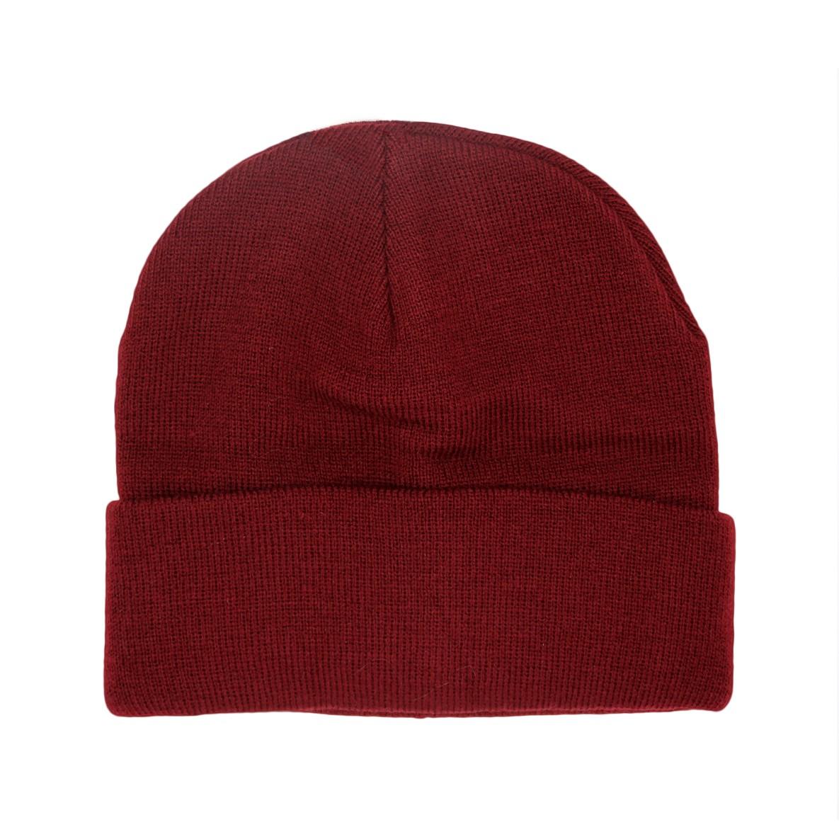 Mütze Basic dunkelrot