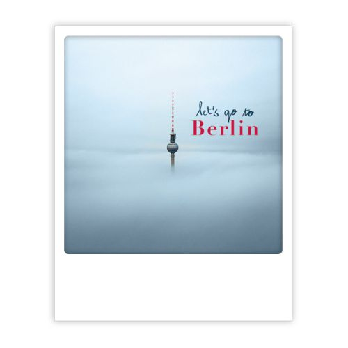 Polaroid Karte alex in the mist Berlin