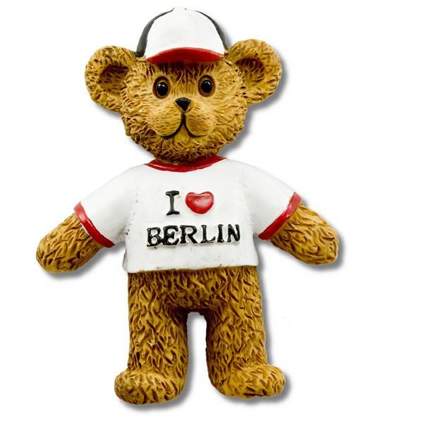 Magnet Poly Bär I (Herz) mit Kappe Berlin