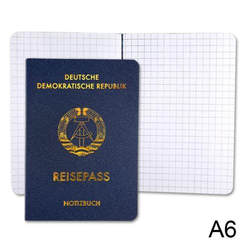 Notizbuch Reisepass DDR A6, 30 Seiten