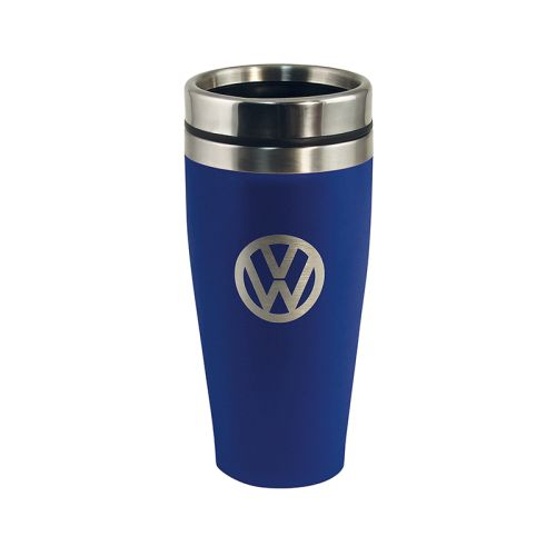 VW Edelstahl Thermobecher doppelwandig 400ml blau