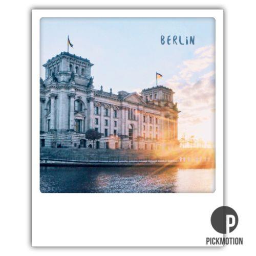 Polaroid Karte Reichstag Berlin
