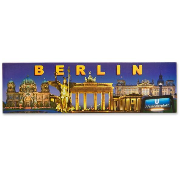 Fotomagnet Panorama Berlin bei Nacht