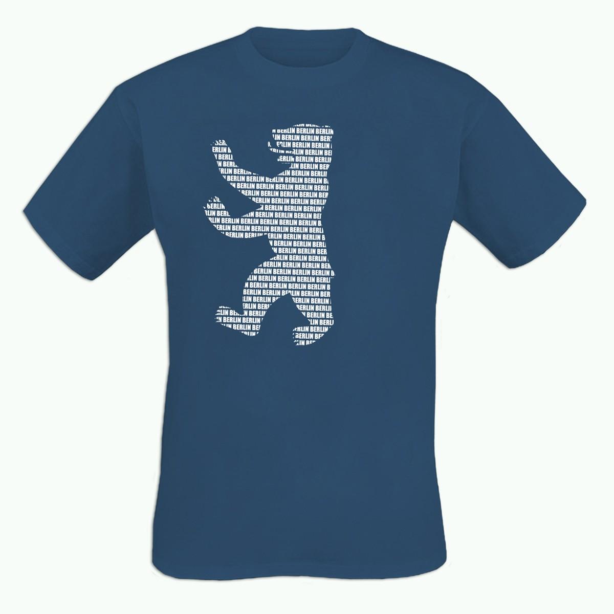H Shirt Berliner Bär blau Größe S