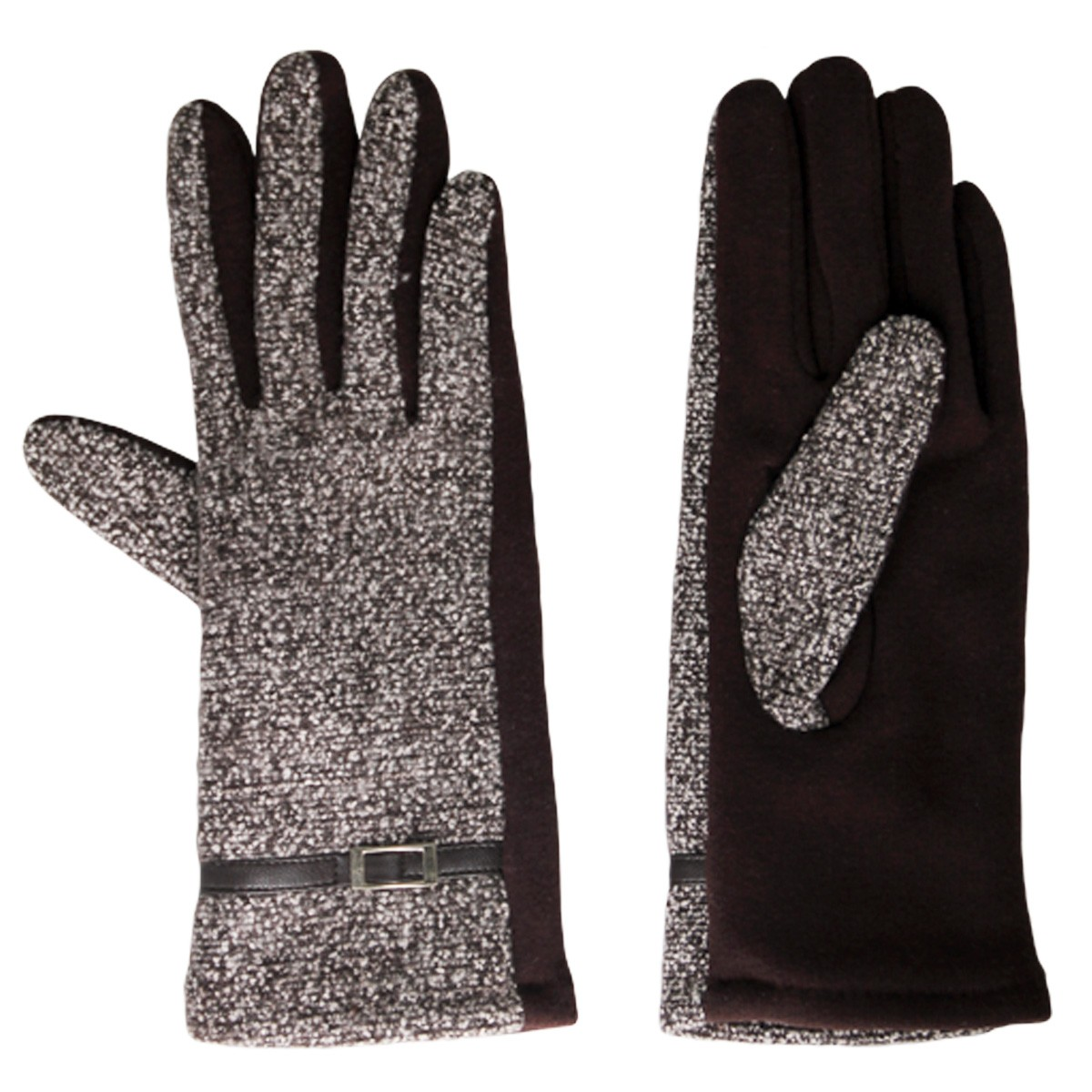 Handschuhe Stoff braun