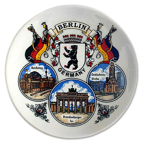 Untersetzer Porzellan 3er Bild Berlin weiß