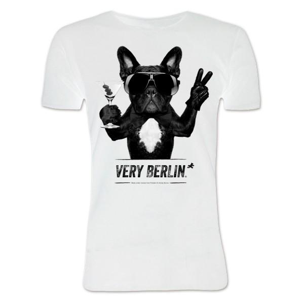 H Shirt bulldog weiß Größe S