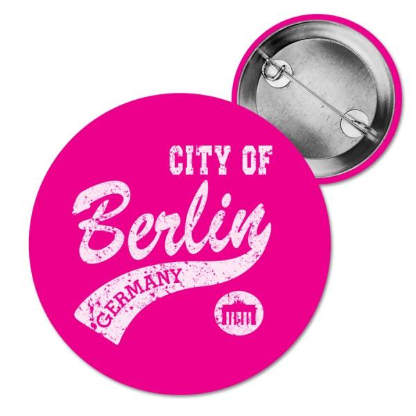 Button City of Berlin pink