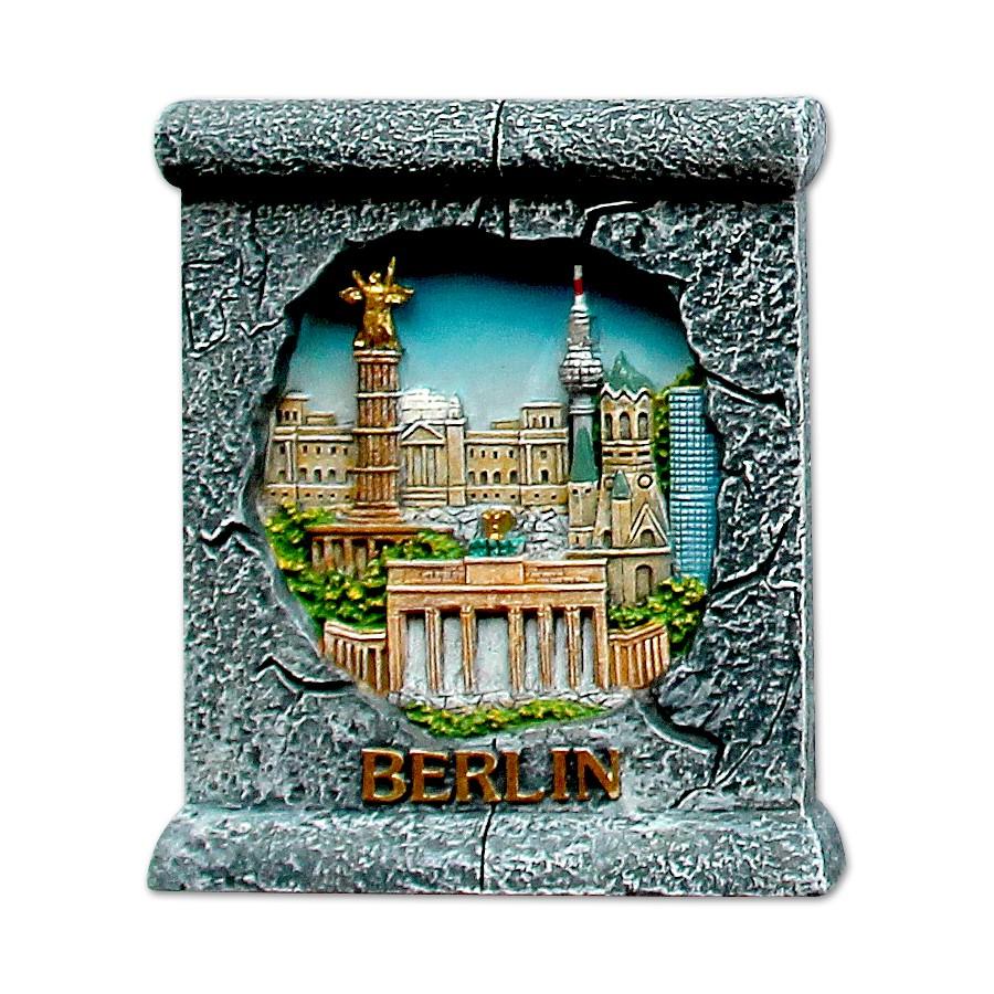 Magnet Poly Berliner Mauer mit Gebäuden