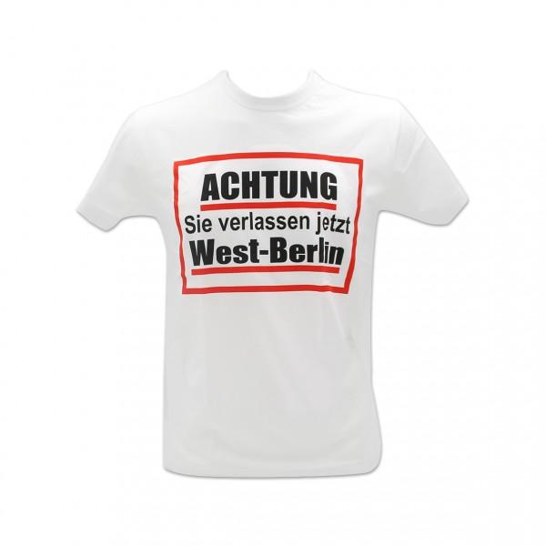 H Shirt Achtung West-Berlin weiß Größe S