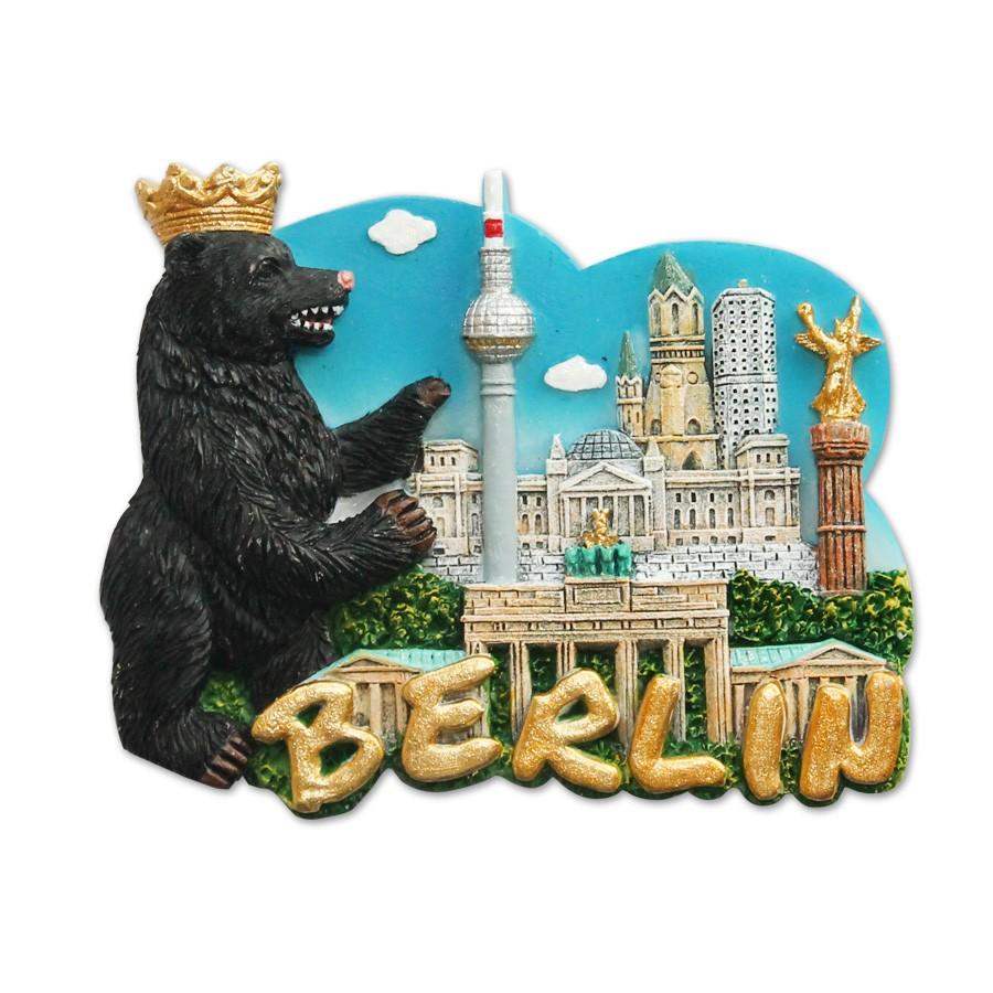 Magnet Poly Stadt mit Berliner Bär